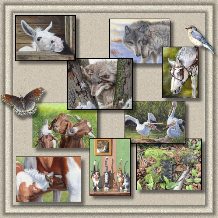Original Wildlife Paintngs, Nature Art and Miniature Paintings by Judy Schrader